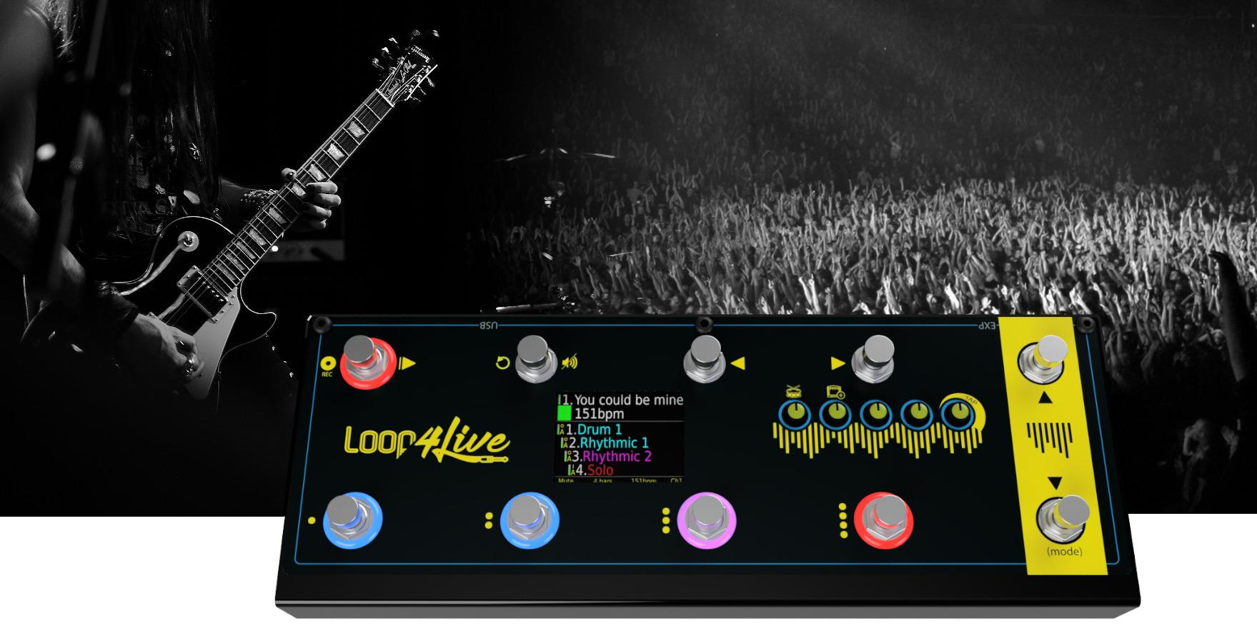 loop4live footswitch looper live